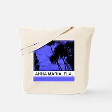 Purple palm trees Tote Bag