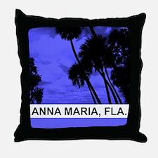 Purple palm trees Throw Pillow