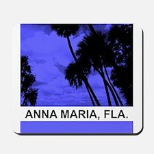 Purple palm trees Mousepad