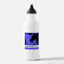 Purple palm trees Water Bottle