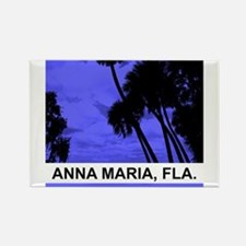 Purple palm trees Rectangle Magnet