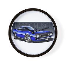 67 Blue Camaro B Wall Clock
