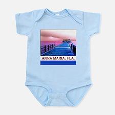 Pink and blue Rod & Reel Pier Infant Bodysuit