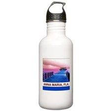 Pink and blue Rod & Reel Pier Water Bottle