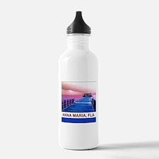 Pink and blue Rod & Reel Pier Water Bottle
