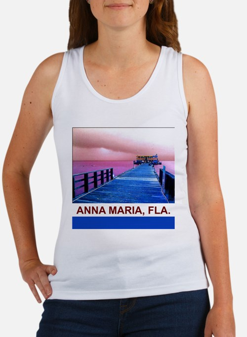 Pink and blue Rod & Reel Pier Women's Tank Top