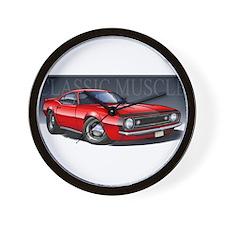 67 Red Camaro B Wall Clock
