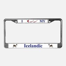 Icelandic Sheep Dog License Plate Frame
