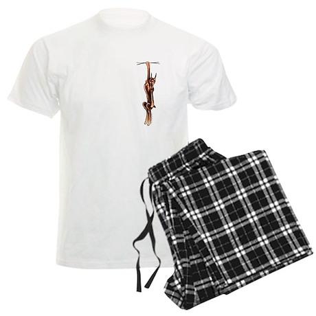 Clingy Red Dobe Men's Light Pajamas