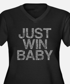 JUST WIN BABY, Vintage, Women's Plus Size V-Neck D