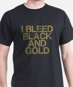I Bleed Black and Gold, Vintage, T-Shirt