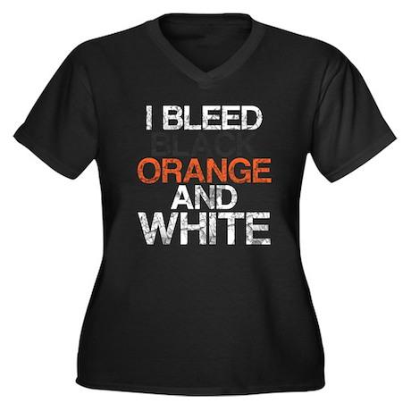 I Bleed Black and Orange, Aged, Women's Plus Size