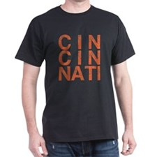 CINCINATI, Typography, Aged, T-Shirt