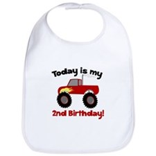 Monster Truck 2nd Birthday Bib