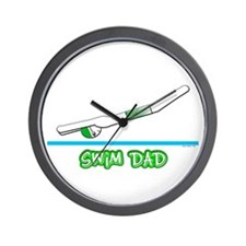 Swim Dad (boy) green suit Wall Clock