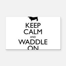 Keep Calm and Waddle On Rectangle Car Magnet