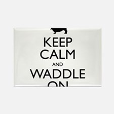 Keep Calm and Waddle On Rectangle Magnet (100 pack