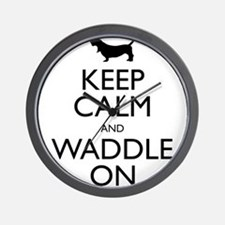 Keep Calm and Waddle On Wall Clock
