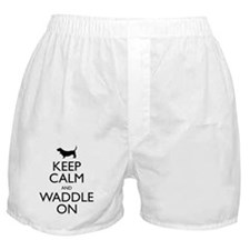 Keep Calm and Waddle On Boxer Shorts
