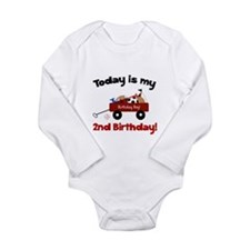 Little Red Wagon 2nd Birthday Long Sleeve Infant B