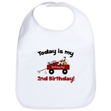 Little Red Wagon 2nd Birthday Bib