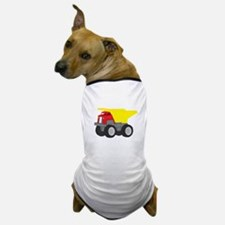 Yellow and Red Dump Truck Construction Vehicle Dog