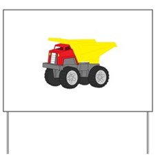 Yellow and Red Dump Truck Construction Vehicle Yar