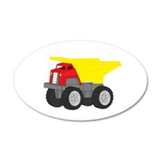 Yellow and Red Dump Truck Construction Vehicle 20x