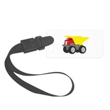 Yellow and Red Dump Truck Construction Vehicle Sma