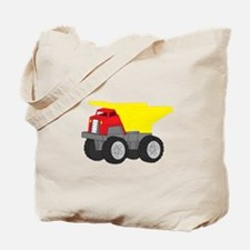 Yellow and Red Dump Truck Construction Vehicle Tot