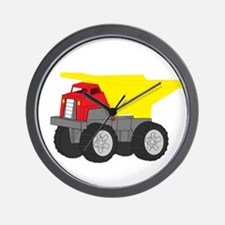 Yellow and Red Dump Truck Construction Vehicle Wal