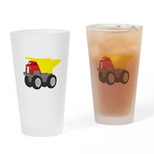 Yellow and Red Dump Truck Construction Vehicle Dri