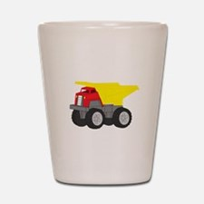 Yellow and Red Dump Truck Construction Vehicle Sho