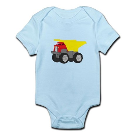 Yellow and Red Dump Truck Construction Vehicle Inf