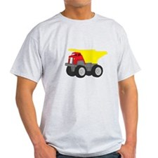 Yellow and Red Dump Truck Construction Vehicle Lig