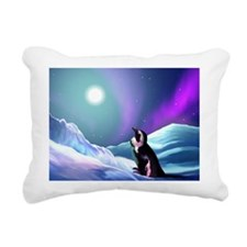 Contemplative Penguin Rectangular Canvas Pillow