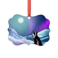 Contemplative Penguin Picture Ornament