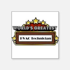 World's Greatest HVAC Technician Square Sticker 3""
