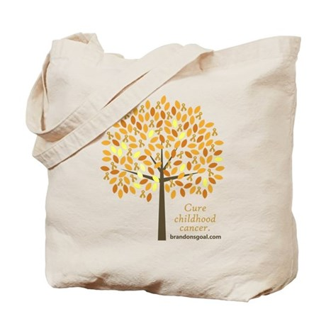 Gold Ribbon Tree Tote Bag