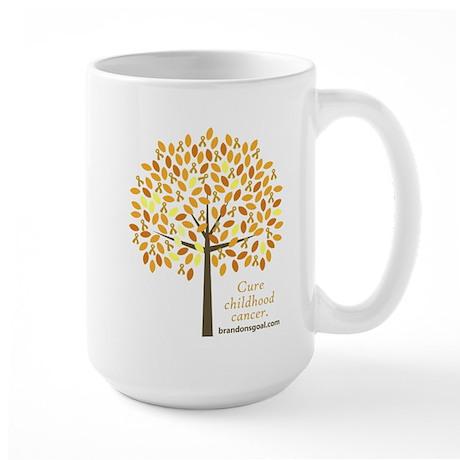 Gold Ribbon Tree Large Mug