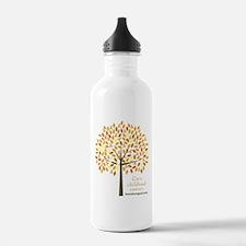 Gold Ribbon Tree Water Bottle