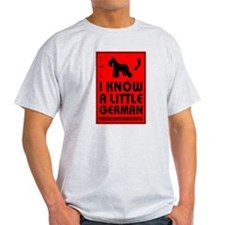 I Know a Little German! Schnauzer Grey Tee