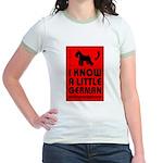 Little German! SCHNAUZER Jr. Ringer T-Shirt