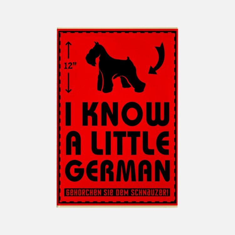 I Know a Little German! Schnauzer Magnet