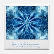 Buddha Think Quote Tile Coaster