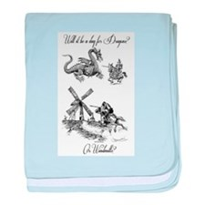 Dragons or Windmills baby blanket