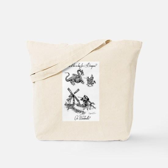Dragons or Windmills Tote Bag