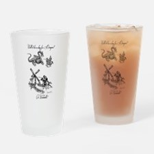 Dragons or Windmills Drinking Glass