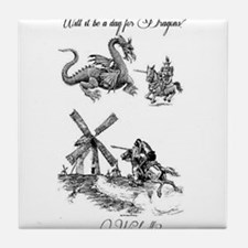 Dragons or Windmills Tile Coaster