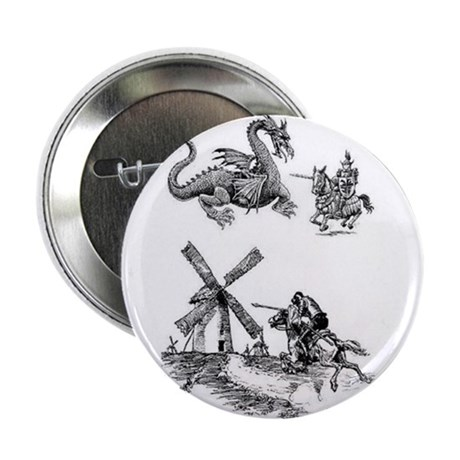 """Dragons or Windmills 2.25"""" Button"""